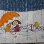Prijatelji v deževnem dnevu